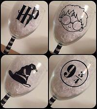 Harry potter à thème vinyl decal stickers verre vin paillettes tasse portable