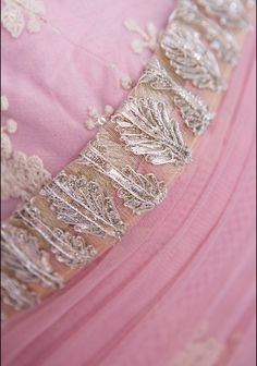 * Details*  What a gorgeous sari set in sherbet pink, fit just for a princess…