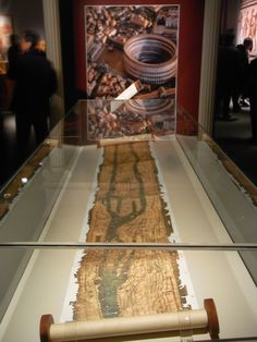 https://flic.kr/p/e7VJbo | Tabula Peutingeriana HK TST Science Museum exhitit. Map over Ancient Rome from France and UK, Ireland to India | Photo by Boboworkplace, 2013