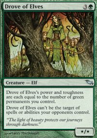 Drove of Elves is a really good card, one of my favorites in my elf deck.