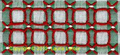 Gingham Lace, Depression Lace, Snowflake Lace, Chicken Scratch Embroidery #freechickenscratch