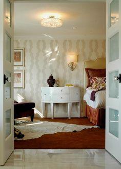 4 lite horizontal white lami ovolo stops Flush Mount Lighting, Pretty Lights, Contemporary Bedroom, French Doors, Master Bedroom, Interior, Surrey, Twilight, Vancouver
