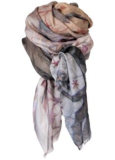 By Birdie Kashmir-silke tørklæde - Cashmere Silk Art Scarf - Budolfi Mural – Acorns