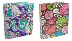 Vera Bradley's sold out 3 ring flexi binders in patterns new for fall 2013, Heather & Lola  http://stores.ebay.com/tiaandteddy/VERA-BRADLEY-/_i.html?_fsub=1730171013&_sid=55920943&_trksid=p4634.c0.m322