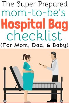 A Hospital Bag Checklist for a super-prepared mom to be! What to pack in hospital bag for baby, mom and dad. Prepare your labor bag for hospital birth by. Packing Hospital Bag, Hospital Bag Checklist, Pregnancy Information, Baby Kicking, Fantastic Baby, Baby Arrival, Pregnant Mom, First Time Moms, Super Mom