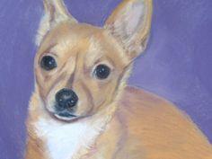Items similar to Custom Pet Portrait, Pastel original painting of your pet, Chihuahua dog, gift, keepsake memory on Etsy Pet Portraits, Corgi, Original Paintings, Pastel, Pets, Animals, Corgis, Cake, Animales
