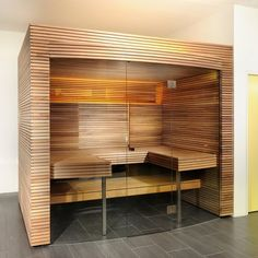 Welcome to Prestige Saunas, the exclusive UK supplier of Kung Saunas from Switzerland. Luxury Saunas & Steam room design & installation for home & commercial wellness. Bathroom Spa, Small Bathroom, Master Bathroom, Sauna Steam Room, Bathroom Flooring, Blinds, Shelves, Interior Design, Luxury