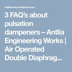 5 minute fix to troubleshoot a diaphragm pump youtube air 3 faqs about pulsation dampeners antlia engineering works air operated double diaphragm pump ccuart Images
