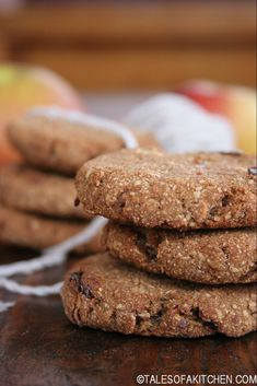 Apple and Date Buckwheat Cookies. Apple and dates buckwheat cookies that are healthy easy egg free dairy free processed sugar free oil free and simply addictive. Healthy Cookies For Kids, Healthy Vegan Desserts, Healthy Baking, Raw Food Recipes, Cookie Recipes, Dessert Recipes, Freezer Recipes, Freezer Cooking, Drink Recipes