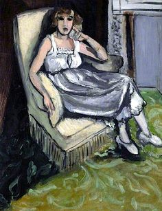 Woman Seated in an Armchair Matisse Oil on canvas ART UK Henri Matisse, Matisse Kunst, Matisse Art, Matisse Paintings, Your Paintings, Beautiful Paintings, Portrait Paintings, Raoul Dufy, Pablo Picasso
