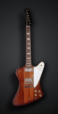 Funky '63 Gibson Firebird V. Great look of the wood with the through-neck. www.anchorstudiopreston.wix.com/anchor-studio