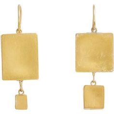 Judy Geib Womens Giant Cubic Double-Drop Earrings 3fKt0Dgb