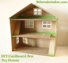 DIY Caja de Cartón Casa del juguete - Little Window Red
