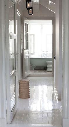 A stunning white Norwegian home