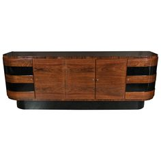Art Deco Sideboard by Deutsche Mobel in Bookmatched Rosewood | From a unique collection of antique and modern sideboards at https://www.1stdibs.com/furniture/storage-case-pieces/sideboards/