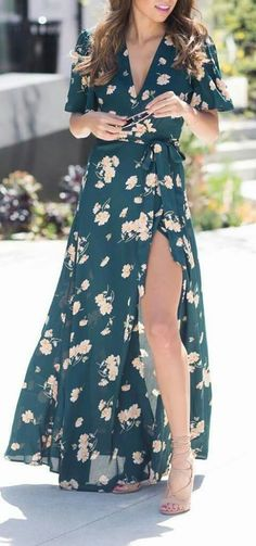 Floral kimono dress Más - My Brand New Outfit Kimono Dress, Maxi Wrap Dress, Dress Up, Floral Kimono, Dress Clothes, Chic Dress, Moda Tropical, Estilo Hippie, Summer Outfits