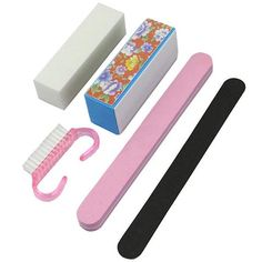 Best Deal5X Pro Manicure Tools Kit Rectangular Nail Files Brush Accessories Nail Art SetHot