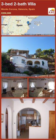 3-bed 2-bath Villa in Monte Corona, Valencia, Spain ►€250,000 #PropertyForSaleInSpain