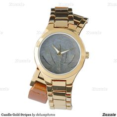 Candle Gold Stripes Watches