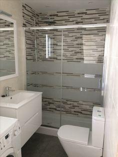 Glass Shower, Bathroom Remodel Master, Frosted Shower Doors, Shower Doors, Bathroom Renovations, Door Glass Design, Frameless Shower Doors, Bathroom Design, Tub Enclosures