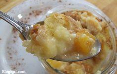 Peaches & Cream Croissant Bread Pudding