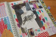 Sneak Peaks in My Smashbook - Making Your Own Paper by Naughty Secretary Club, via Flickr