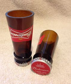 Beer Bottle Shot Glasses. Recycled Glass Bottles. Man Cave. For Him. on Etsy, $8.00