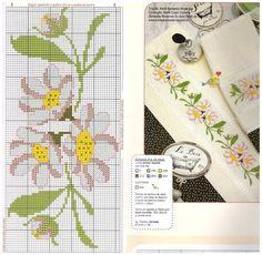 P Cross Stitch Pillow, Just Cross Stitch, Cross Stitch Borders, Cross Stitch Flowers, Cross Stitch Designs, Cross Stitching, Cross Stitch Embroidery, Embroidery Patterns, Hand Embroidery