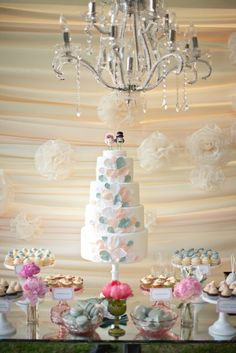 One of my favourite cake designs featured as part of one of my favourite weddings as seen on My Sweet and Saucy. Love the Sky Blue and Soft Peach.