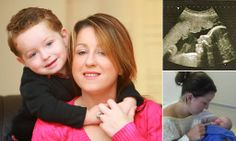 'My unborn baby saved my life': Mother who didn't even know she was expecting discovers pregnancy hormones had destroyed cancerous tumour.