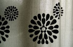 How to Customize Plain Curtains With Fabric Paint, Plain Curtains, No Sew Curtains, Drop Cloth Curtains, How To Make Curtains, Rod Pocket Curtains, Grommet Curtains, Hanging Curtains, Curtain Fabric, Fabric Shower Curtains