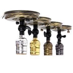 Excellent Quality E27/E26 Screw Edison Retro Vintage Ceiling Light Lamp Bulb Holder Socket Fitting 110V-220V Without Switch  #neli