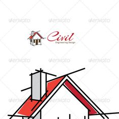 Civil Engineering Design #GraphicRiver A logo template suitable for businesses dealing in building, residential houses. All