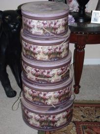 Set Of 5 Large Nesting Hat Boxes