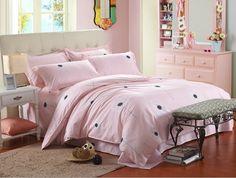 New Design 3Pcs/4Pcs Bedclothes artistic Pink Dandelion Bedding Set King / Queen/ Full/Twin size bedding set #Affiliate