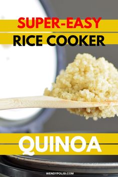 This easy method for rice cooker quinoa is easily my favorite way to cook quinoa that I've ever tried. It is so simple and foolproof. #wendypolisi #healthy #glutenfree  #cookingquinoa Best Quinoa Recipes, Gluten Free Recipes For Breakfast, Healthy Gluten Free Recipes, Gluten Free Dinner, Great Recipes, Vegetarian Recipes, Dinner Recipes, Quinoa In Rice Cooker, Perfect Quinoa