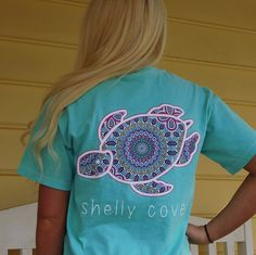 Summer Boho Shelly™ Mandala Short Sleeve Tee in Chalky Mint - Shelly Cove  - 1