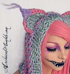 Pastel Cheshire Detail by *Archaical on deviantART pretty cool love her hair and I hate pink