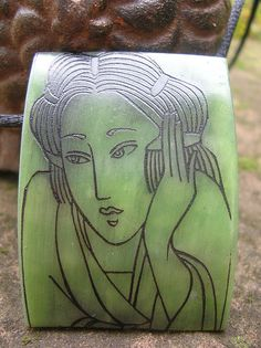 Stunning Faux Jade - Vera Kleist. A stamping would give this more depth.