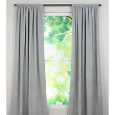 Brite Ideas Living Rainmaker Smoke Rod Pocket Curtain Panel 54 by 96 * Read more reviews of the product by visiting the link on the image.