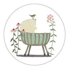 geboortekaartje   Bloemenweide   dieren & planten   stokwolf Family Illustration, Tree Illustration, Mini Drawings, October Baby, Baby Embroidery, Designer Baby, Watercolor Cards, Baby Design, Baby Cards