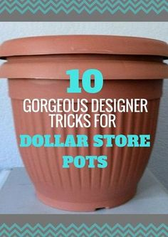 Decor DIY Here Are 10 Gorgeous Designer Tricks for Your Dollar Store Pots how to upcycle cheap flower pots, container gardening, crafts, gardening, Share these with fellow thrifty gardeners 🌷🌺🌻 Garden and Gardening Project I. Garden Types, Dollar Store Crafts, Dollar Stores, Dollar Store Decorating, Dollar Dollar, Dollar Items, Dollar Store Hacks, Garden Care, Smart Garden