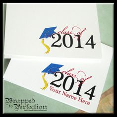 Graduation Thank You Cards / 10 Note Cards by WrappedToPerfection, $13.00
