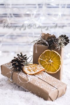 Natural packed gifts for Christmas by vanilllaph, via Flickr