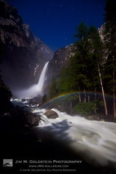 Lunar Rainbow (Moonbow) at Lower Yosemite Falls, Yosemite National Park. Jim Goldstein Photography.    Read more: http://www.jmg-galleries.com/blog/2012/01/05/jmg-galleries-best-photos-of-2011/#ixzz27nCYDYtg