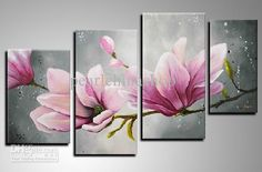 Wholesale Oil Painting - Buy 100% Hand Draw Abstract Modern Oil Painting on Canvas Graceful Flower for Office Room, $38.3 | DHgate