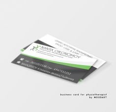 business card for physiotherapist