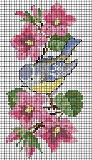 Free Download Embroideries - Δωρεάν κεντήματα: Αηδόνι στο κλαδί