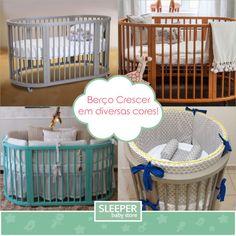 Quer um berço colorido para o quartinho do bebê? Aqui na Sleeper Baby Store tem diversas opções de cores do Berço Crescer e o melhor: a pronta entrega aqui na loja!!   Além das cores da foto, agora ele pode vir em Verde Pistache, Azul Bebê e Rosa Bebê! Este berço é ótimo, pois acompanha o crescimento do bebê em quatro fases:  Primeiro é um lindo mini berço com rodízios de silicone que  permite que você ande pela sua casa com o bebê no berço.    Depois você insere as duas laterais e o ...