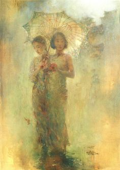 "胡峻涤 (Hu Jundi), ""Umbrella"".  Beautiful."